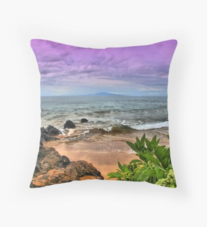 A View from Maluaka Beach Throw Pillow