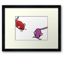 Cat toys - mice Framed Print