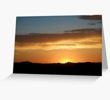 {desert sunset} Greeting Card