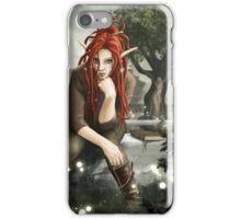 Siteya Ganaya, elf priestess and healer iPhone Case/Skin