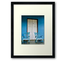 A pair of Rocking chairs, Vinales, Cuba Framed Print