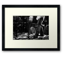 Leaves Russell performing at the Laurelthirst Public House Framed Print
