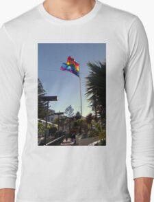 The Rainbow Flag Backlit Long Sleeve T-Shirt