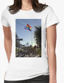 The Rainbow Flag Backlit Womens Fitted T-Shirt