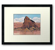 Shiprock ~ Tsé Bit' A'í  ~ Rock With Wings ~ Oil Painting Framed Print