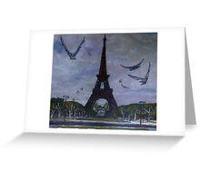 The Eiffel tower Paris Greeting Card