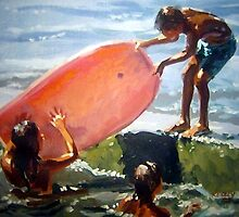 The Pink Boogie Board by Norman Kelley