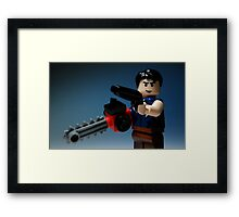 *THIS* is my Boomstick! Framed Print