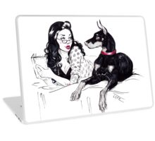 Doberman and PinUp Laptop Skin