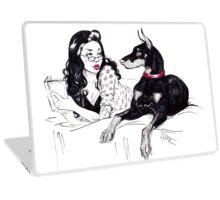 Doberman and PinUp Laptop Skin