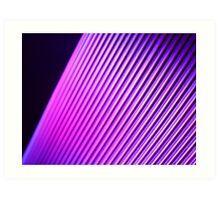 Purple Lines Art Print