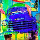 Old Blue Truck Abstract by susan stone