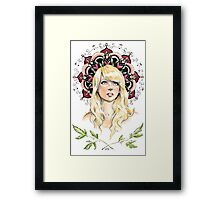 Mandala Girl Framed Print