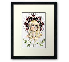 Mandala Girl Framed Print
