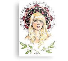 Mandala Girl Metal Print