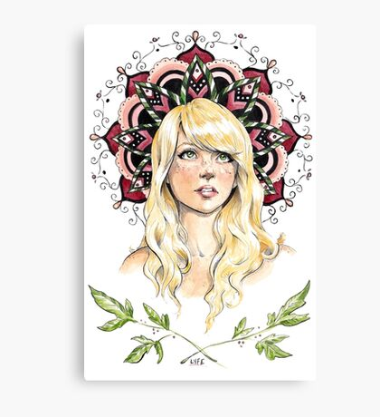 Mandala Girl Canvas Print