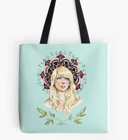 Mandala Girl Tote Bag
