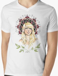 Mandala Girl Mens V-Neck T-Shirt