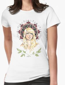Mandala Girl Womens Fitted T-Shirt