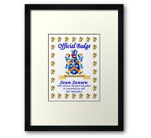 A young Kahuna BS'er ..............Eh!!!!!!!!!! Framed Print