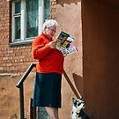Old Woman and Her Dog by MariaVikerkaar