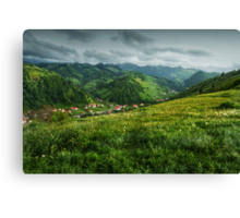 A small village in the valley, Romania Canvas Print