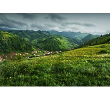 A small village in the valley, Romania Photographic Print
