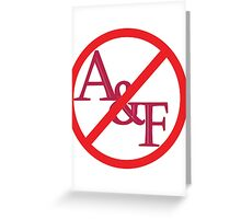 No A&F Greeting Card
