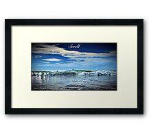 Swell Blue Framed Print