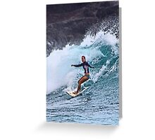 Surfin' at La Perouse Greeting Card