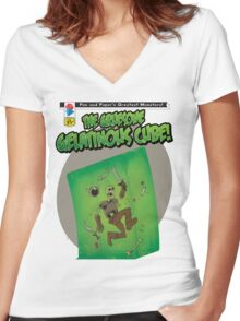 Gelatinous Cube Women's Fitted V-Neck T-Shirt