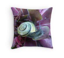 Purple snail Throw Pillow