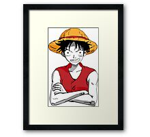 Luffy from One Piece Framed Print