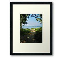 Sheldon Marsh Beach Trail Framed Print