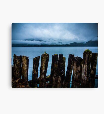Pier into the Blue Canvas Print