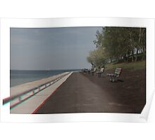 3D Path Along The Water Poster