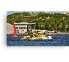 Fishing Boat - Newcastle Harbour NSW Australia Canvas Print