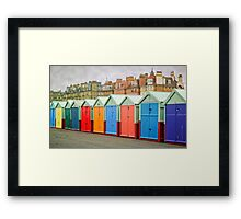 Hove Huts and Mansions Framed Print