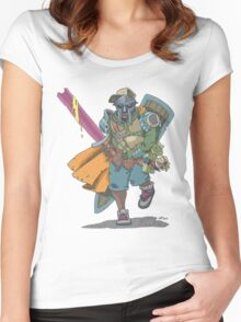 Dungeons & Dragons & MF DOOM Women's Fitted Scoop T-Shirt