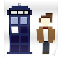 Pixel 11th Doctor and TARDIS Poster