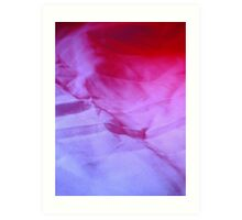 Red and White Hills Art Print