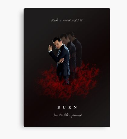 Moriarty: I Will Burn the Heart Out of You! Canvas Print