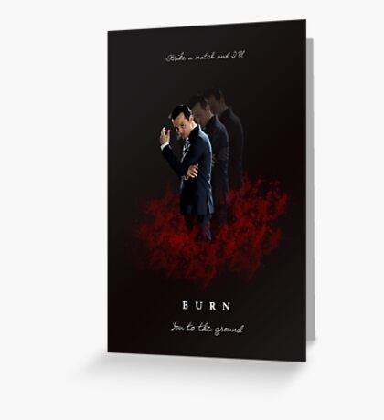 Moriarty: I Will Burn the Heart Out of You! Greeting Card