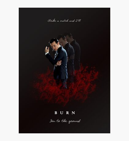 Moriarty: I Will Burn the Heart Out of You! Photographic Print