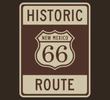 Historic Route 66 (New Mexico) Highway Sign by Paul James Farr