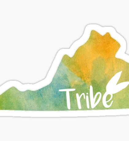 William & Mary Tribe Watercolor State Sticker
