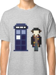 Pixel 4th Doctor and TARDIS Classic T-Shirt