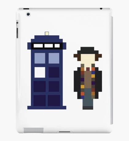 Pixel 4th Doctor and TARDIS iPad Case/Skin