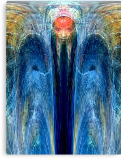 Angel of blue healing light by Bill Brouard
