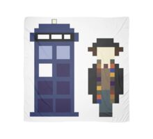 Pixel 4th Doctor and TARDIS Scarf